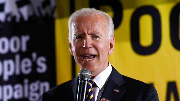FILE - In this June 17, 2019, file photo, Democratic presidential candidate, former Vice President Joe Biden, speaks in Washington. (AP Photo/Susan Walsh, File)