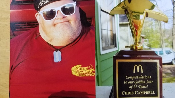 Chris Campbell, who has Down syndrome and was without life insurance, died Tuesday. (GoFundMe)