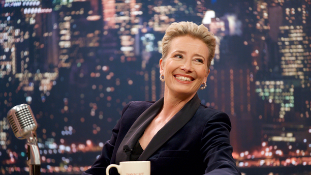 """This image released by Amazon Studios shows Emma Thompson in a scene from """"Late Night."""""""