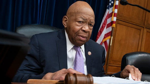 "House Oversight and Reform Committee Chair Elijah Cummings, D-Md., leads a meeting to call for subpoenas after a career official in the White House security office says dozens of people in President Donald Trump's administration were granted security clearances despite ""disqualifying issues"" in their backgrounds, on Capitol Hill in Washington, Tuesday, April 2, 2019. The issue sets the stage for another fight between the White House and the Democratic-controlled House, with Rep. Jim Jordan, the committee's ranking Republican, saying in a statement that Cummings' probe is a ""partisan attack."" (AP Photo/J. Scott Applewhite)"