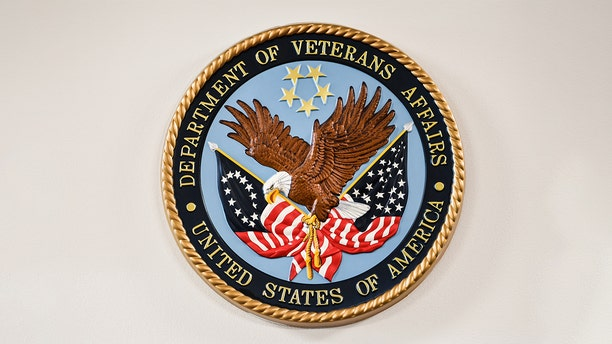A logo of the U.S. Department of Veterans Affairs. (Photo by Salwan Georges/The Washington Post via Getty Images)