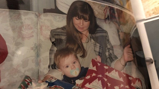 Leyla Cox and her son Will when he was a child.
