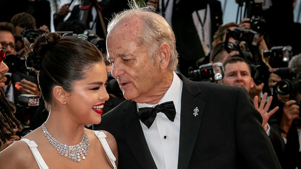 """Actors Selena Gomez and Bill Murray attend the opening ceremony and screening of """"The Dead Don't Die"""" during the 72nd annual Cannes Film Festival on May 14, 2019 in Cannes, France. (Getty)"""