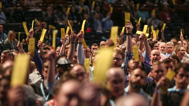 By overwhelming votes, Southern Baptists strengthened their stances against sexual abuse and racism during the opening day of their June 11-12 SBC annual meeting in Birmingham, Ala.