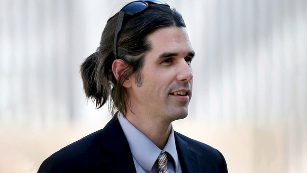In this 2018 photo, Scott Daniel Warren, who is charged with human smuggling, walks into U.S. District Court in Tucson. (Kelly Presnell/Arizona Daily Star via AP, File)