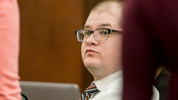 Timothy Jones Jr. in court last week. (Jeff Blake/The State via AP, Pool)