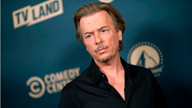 """Actor David Spade attends the first Comedy Central, Paramount Network and TV Land Press Day, on May 30, 2019 in Los Angeles, California. The comedian says he won't mock President Trump on his new show, """"Lights Out with David Spade."""""""