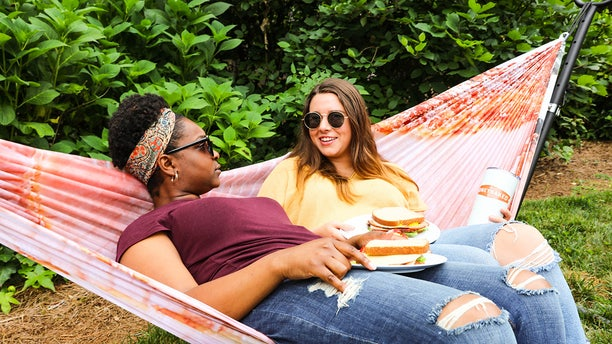 """""""The Ham Hammock is perfect for lazy summer days lounging by the pool, in the backyard…or whenever you're eating ham."""""""