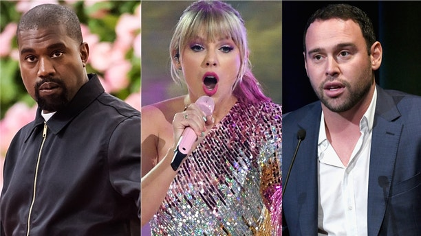 """Taylor Swift blasted Scooter Braun, Kanye West's former manager, after Braun purchased Big Machine from founder Scott Borchetta. Braun, who Swift accused of """"manipulative bullying,"""" now owns the masters to Swift's first six albums."""