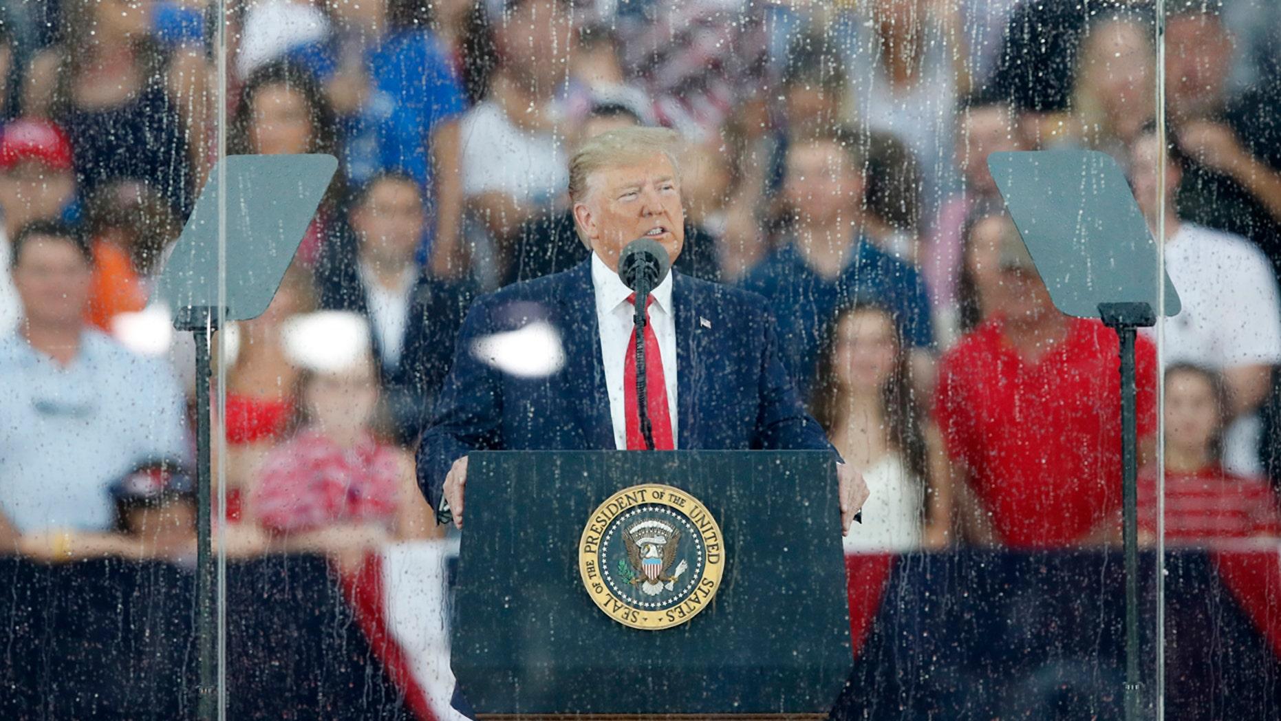 Trump sings praises of American exceptionalism in elaborate July 4 salute