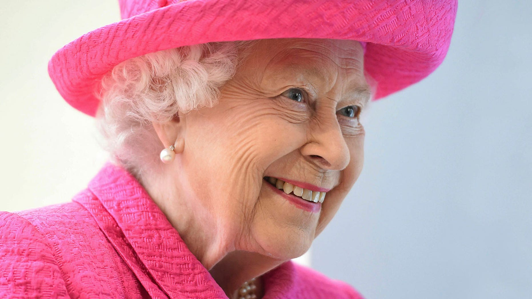 Britain's Queen Elizabeth II during a visit to the Royal Papworth Hospital in Cambridge, England, on July 9, 2019.  (Joe Giddens/PA via AP)