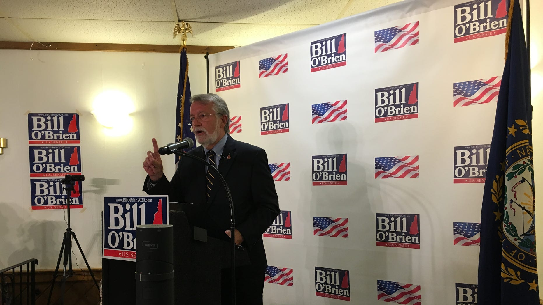 Former New Hampshire House Speaker Bill O'Brien announces his candidacy for the Republican Senate nomination this week.