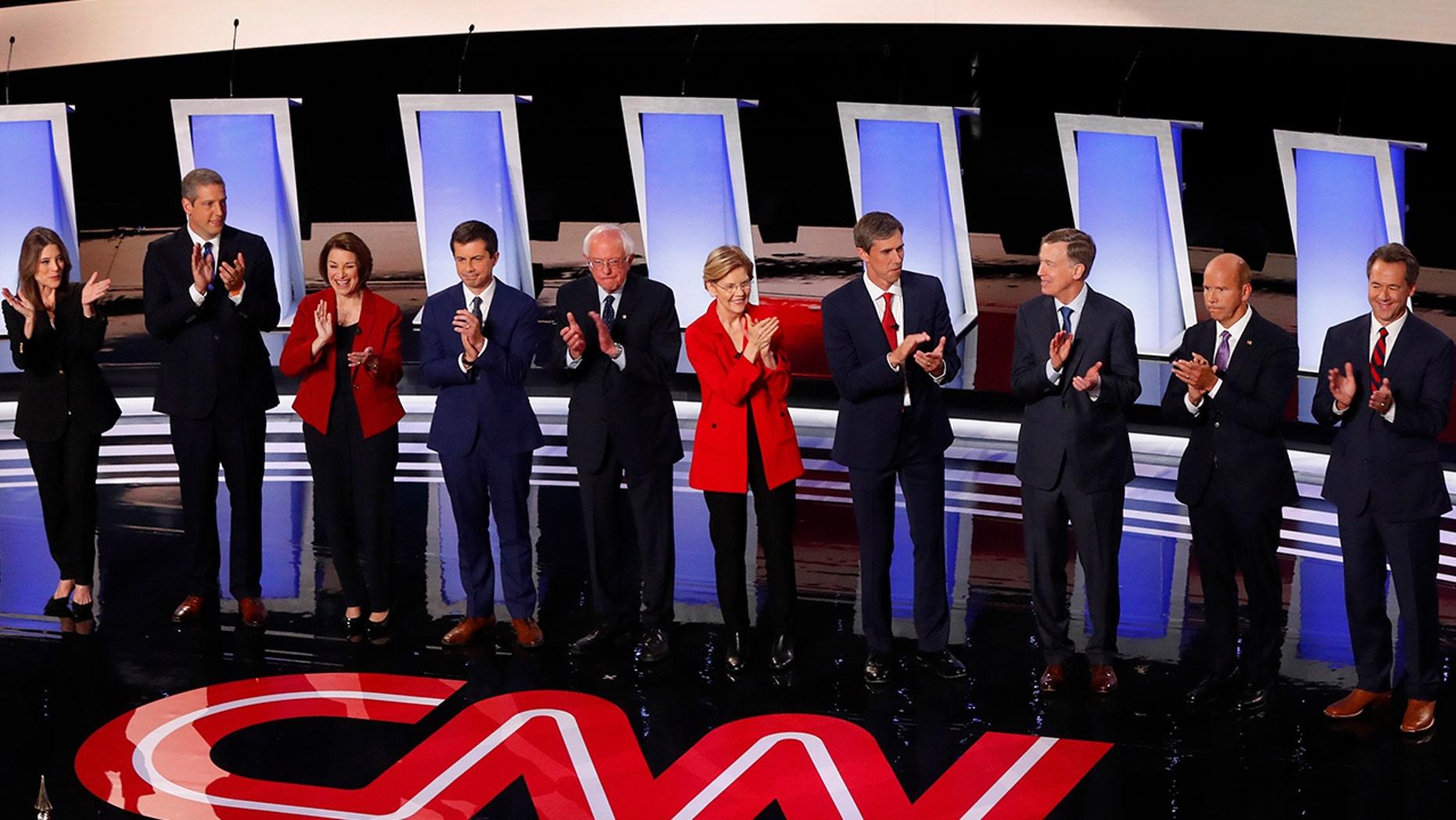 Critics have mocked CNN's over-the-top Democratic debate coverage. (AP Photo/Paul Sancya)