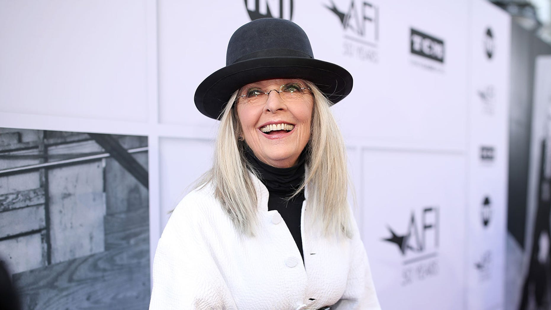 Honoree Diane Keaton arrives at American Film Institute's 45th Life Achievement Award Gala Tribute to Diane Keaton at Dolby Theatre on June 8, 2017 in Hollywood, California. 26658_002 (Photo by Christopher Polk/Getty Images for Turner)