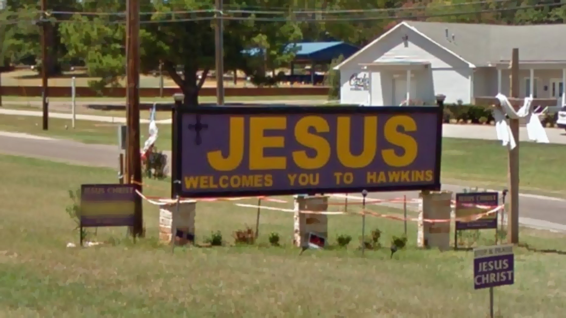Westlake Legal Group JesusWelcomesYoutoHawkins Texas city takes down church's 'Jesus Welcomes You to Hawkins' sign overnight fox-news/us/us-regions/southwest/texas fox-news/us/religion/christianity fox-news/faith-values fox news fnc/us fnc Caleb Parke article 60d988bd-d1fe-5595-99b6-119b4fb1120e