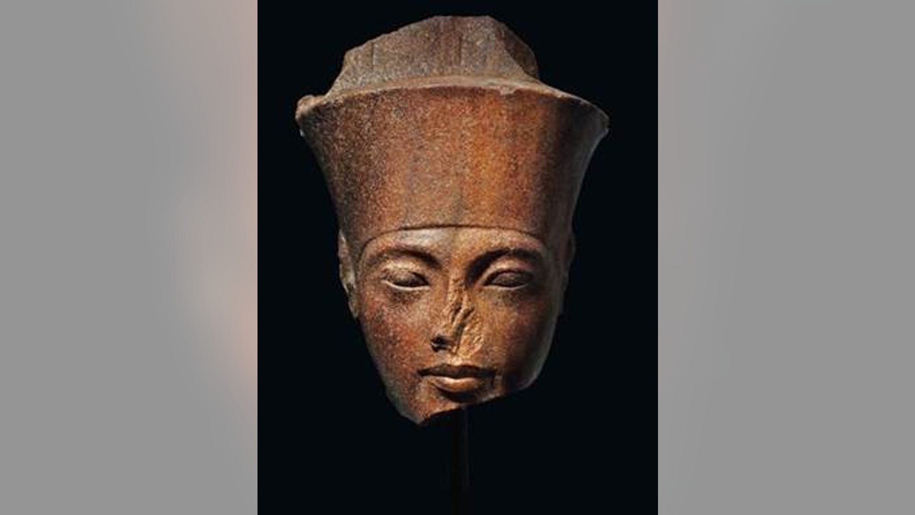 The 3,000-year-old stone sculpture of Tutankhamun sold for nearly $6 million at auction.