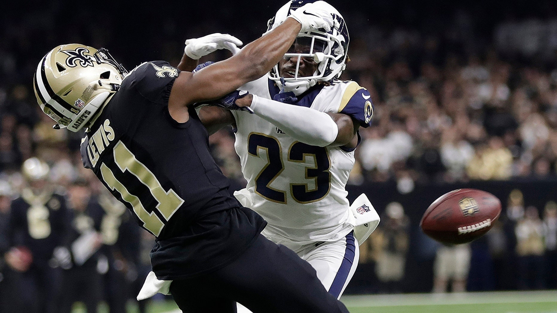 "A Louisiana judge has ordered that NFL Commissioner Roger Goodell and three officials from January's NFC title game be questioned under oath in September about an infamous ""no-call"" that helped the Los Angeles Rams beat the New Orleans Saints in January's NFC title game, an attorney said Monday, July 29, 2019. (AP Photo/Gerald Herbert, File)"