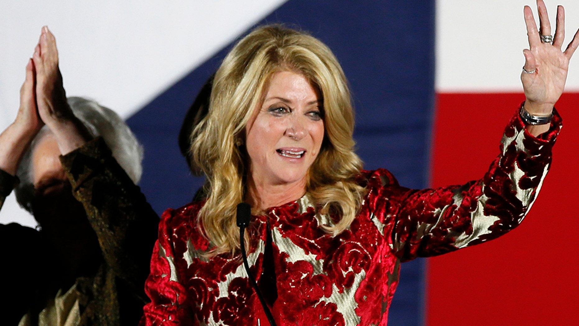 Democrat Wendy Davis announced Monday, July 22, 2019, that she's running for Congress in 2020. (AP Photo/Tony Gutierrez, File)