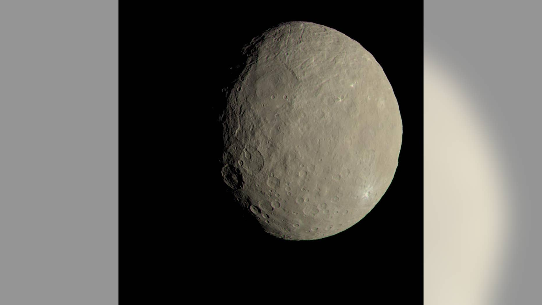 This view of Ceres from NASA's Dawn spacecraft shows what the dwarf planet would look like to the human eye.