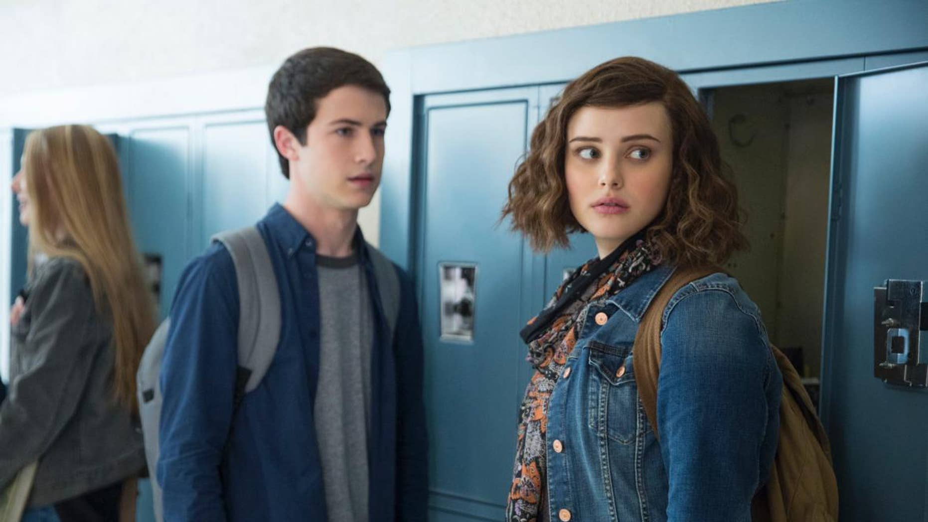 """Actors Dylan Minnette and Katherine Langford seen in Netflix's """"13 Reasons Why."""""""