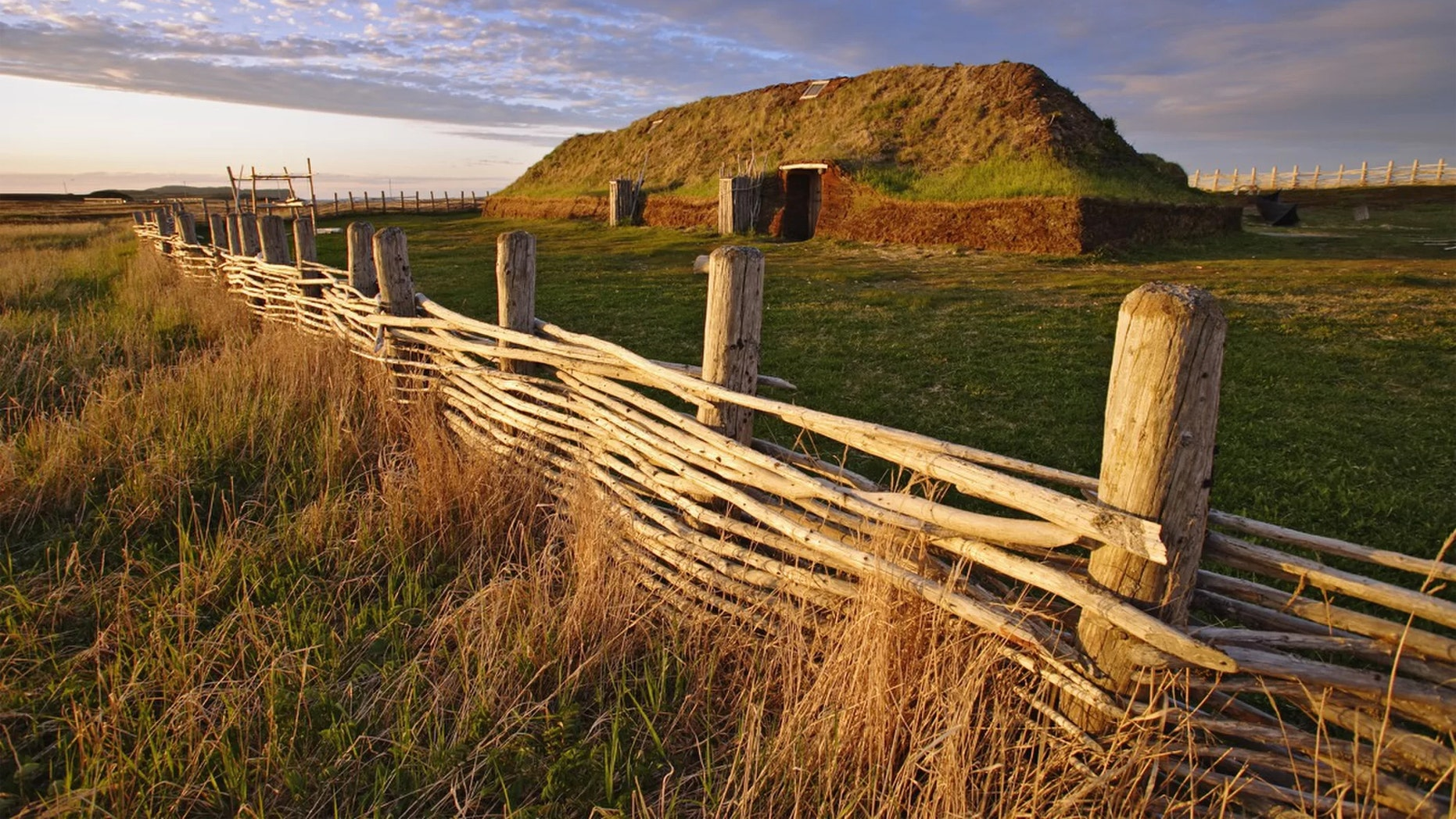 The L'Anse aux Meadows archaeological site is the only confirmed Viking settlement in Newfoundland. Credit: Yves Marcoux/First Light/Getty Images Plus