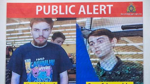 Security camera images of Kam McLeod, 19, and Bryer Schmegelsky, 18.