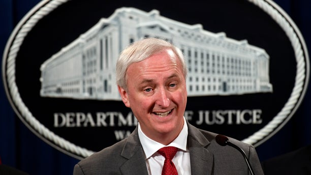 Deputy Attorney General Jeffrey Rosen speaks during a news conference at the Justice Department in Washington, Friday, July 19, 2019, on developments in the implementation of the First Step Act. (AP Photo/Susan Walsh)