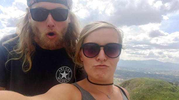 23-year-old Australian Lucas Fowler, left, and 24-year-old American girlfriend Chynna Deese posing in an undated photo. The couple turned up dead earlier this month.