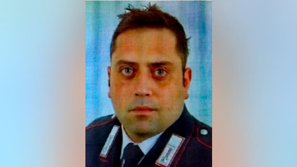 Officer Mario Cerciello Rega, 35, was stabbed to death in Rome early Friday.