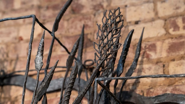 """""""I forged wheat stalks using various industrial steel types so it became a fun game of reinvention, and I also used images of Van Gogh's wheat field drawings and paintings as inspiration for creating the whole unit,"""" Trattner said."""