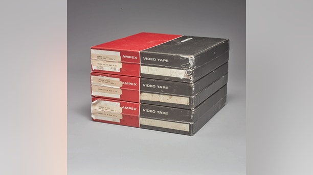 """The unrestored, unenhanced and unremastered tapes are described as """"the earliest, sharpest, and most accurate surviving video images of man's first steps on the moon,"""" by auction house Sotheby's."""