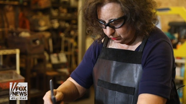 """""""When I am at my anvil, it is exactly where I want to be,"""" says Trattner."""