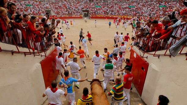"""The San Fermin fiesta made internationally famous by Ernest Hemingway in his novel """"The Sun Also Rises"""" draws around 1 million partygoers each year."""