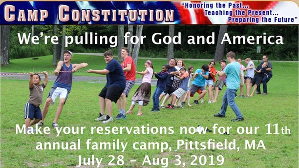 Camp Constitution, a Pittsfield, Mass. facility that teaches kids about the nation's godly heritage, has an annual summer camp and year-round events.