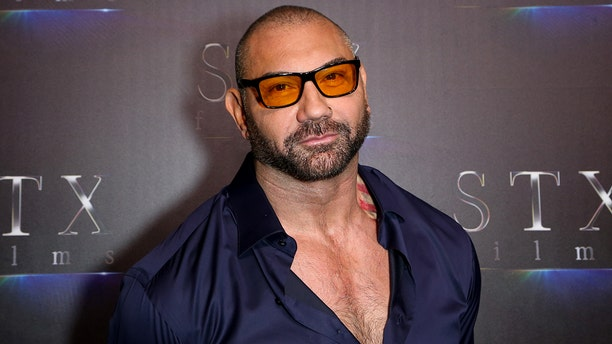 "LAS VEGAS, NEVADA - APRIL 02: Actor Dave Bautista attends ""The State of the Industry: Past, Present and Future"" STXfilms presentation at The Colosseum at Caesars Palace during CinemaCon, the official convention of the National Association of Theatre Owners on April 02, 2019 in Las Vegas, Nevada. (Photo by Gabe Ginsberg/WireImage)"