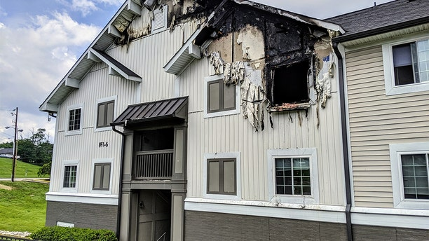 The apartment fire killed an eight-month-old baby.