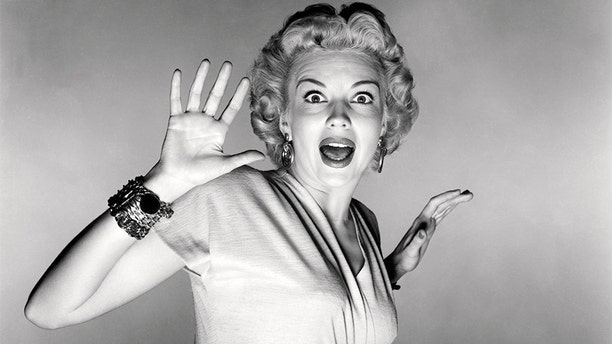Kathleen Hughes screaming in a promotional portrait for in 'It Came From Outer Space', directed by Jack Arnold in 1953. (Photo by Silver Screen Collection/Getty Images)
