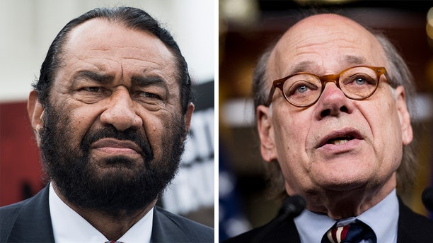 Rep. Al Green, left, and Rep. Steve Cohen vowed to keep pushing for impeachment proceedings against President Trump.