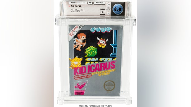 "This undated photo provided by Heritage Auctions, shows an unopened copy of a 1987 cult-classic video game ""Kid Icarus"" belonging to Scott Amos of Reno, Nev."