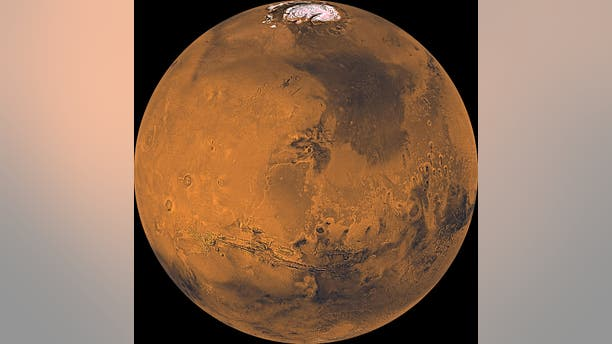 Mars as seen from orbit in the 1970s by NASA's Viking mission. (Credit: NASA)