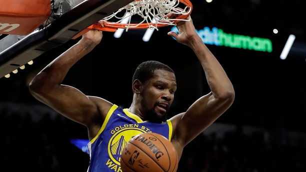 The Nets agreed to deals with superstars Kevin Durant and Kyrie Irving as part of a sensational start to free agency, giving the longtime No. 2 team in New York top billing in the Big Apple. (AP Photo/Tony Gutierrez, File)