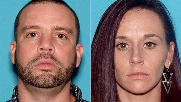 """Nicholas Layton, 39, and Rebecca Wills, 33, both of Mount Holly, N.J., were being sought by authorities after """"ghost guns"""" and explosives were confiscated in a raid Monday."""