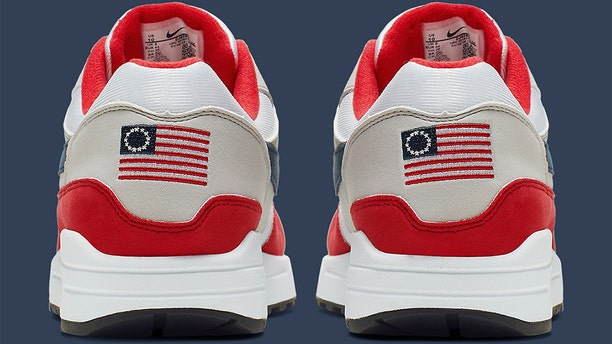 """""""Nike has chosen not to release the Air Max 1 Quick Strike Fourth of July as it featured the old version of the American flag,"""" a spokeswoman reportedly said."""
