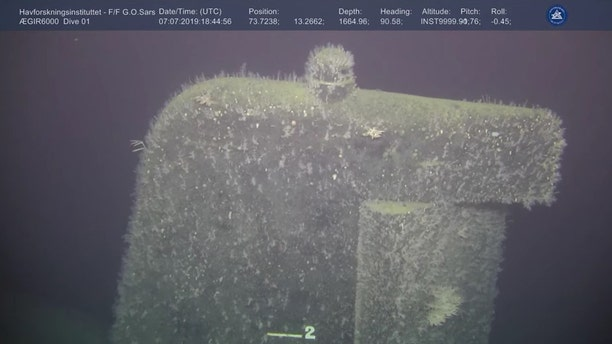 The submarine sank off Norway's Bear Island.(Institute of Marine Research Norway/Ægir 6000)