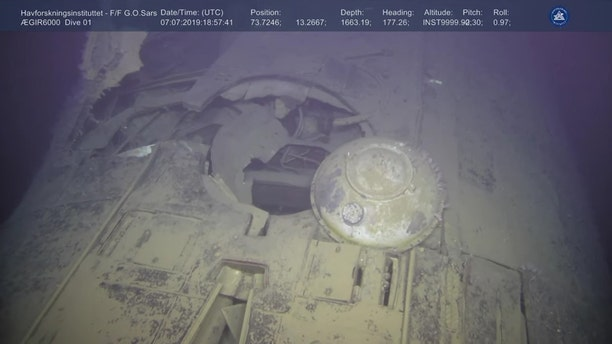 The submarine sank in Arctic waters in 1989. (Institute of Marine Research Norway/Ægir 6000)