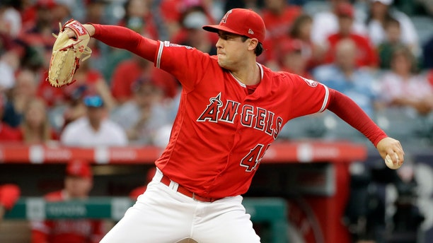 Tyler Skaggs during his final start against the Oakland Athletics this past Saturday. (AP Photo/Marcio Jose Sanchez, File)