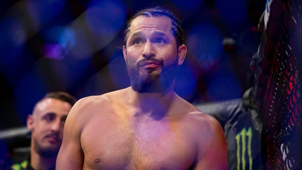 Jorge Masvidal celebrates his knockout victory over Ben Askren during their welterweight mixed martial arts bout at UFC 239, Saturday, July 6, 2019, in Las Vegas. Masvidal won by the fastest knockout in UFC history. (AP Photo/Eric Jamison)
