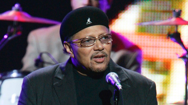 """This Sept. 20, 2005 file photo shows Art Neville performing during the """"From the Big Apple to the Big Easy"""" benefit concert in New York."""