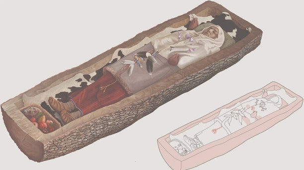 This illustration shows what the woman's grave might have looked like in 200 B.C. Credit: Amt für Städtebau, Stadt Zürich (Office for Urban Development, City of Zurich)