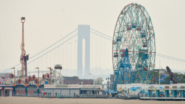 Police say they've found human body parts in Coney Island.